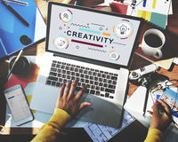Twórczość pomysłów projekta wymyślenia grafiki pojęcie Zdjęcia Stock