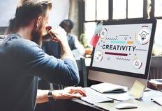 Twórczość pomysłów projekta wymyślenia grafiki pojęcie Zdjęcie Stock