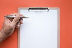 Twórczości inspiracja, pomysłu pojęcie z notepad i biznesmen, obrazy stock