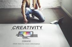 Twórczości zdolności pomysłów wyobraźni innowaci pojęcie obraz stock