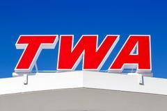 Free TWA Logo Hotel Terminal New York JFK Airport Stock Image - 181027261