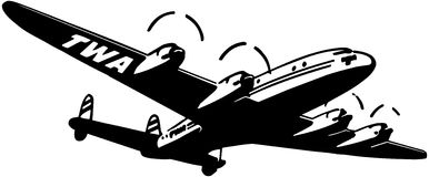 TWA Plane Royalty Free Stock Photos