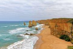 Twaalf Apostelen op Grote Oceaanweg, Australië Stock Afbeeldingen