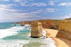 Twaalf Apostelen op Grote Oceaanweg, Australië Stock Foto's
