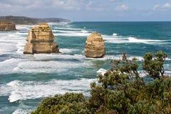 Twaalf Apostelen in Victoria, Australië Stock Afbeeldingen