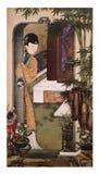 Twaalf Dame Portraits, het beroemde Chinese schilderen Royalty-vrije Stock Afbeelding
