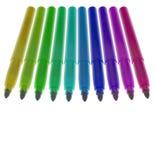 Twaalf gekleurde geopende tellers Stock Foto