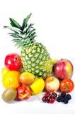 Twaalf rond gemaakte vruchten Royalty-vrije Stock Foto