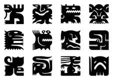 Twaalf vierkante monsters Royalty-vrije Stock Afbeeldingen
