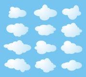 Twaalf vormen van wolken Royalty-vrije Stock Afbeelding