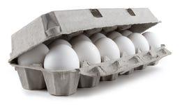 Witte eieren Stock Afbeeldingen