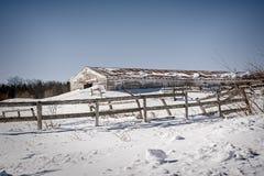 Twarda kraj zima Zdjęcie Royalty Free