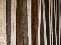 Twarde drzewo tarcica Kłaść w rzędzie fotografia stock