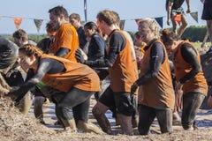 Twardy 2015 mudder Londyńscy południe zdjęcie royalty free