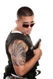 twardy policjanta latynos obraz stock