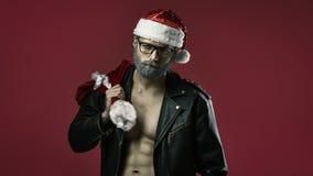 Twardy Santa Claus obraz royalty free