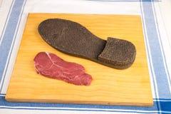 Twardy wołowina stek fotografia stock