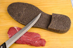 Twardy wołowina stek zdjęcia stock