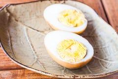 Twardych jajek gulaszu cukierki sos Obrazy Stock