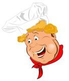 Twarz śmieszny szef kuchni ilustracji