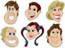 twarz 2 lodówki magnesu uśmiechniętego naklejki Obraz Stock