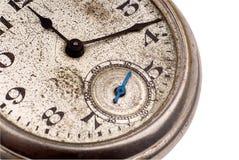 twarz antykwarskiej kieszonkowy zegarek Obrazy Royalty Free