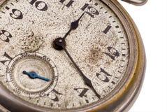 twarz antykwarskiej kieszonkowy zegarek Fotografia Royalty Free