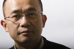 twarz azjatykci mężczyzna Obrazy Stock