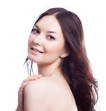 Twarz beautyl kobieta z makijażem Fotografia Stock