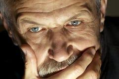 twarz człowieka, uszczypnij s Fotografia Royalty Free