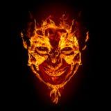 twarz czarci ogień obraz stock