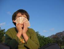 twarzą do pokera. zdjęcia royalty free