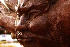 twarz drewniana Obrazy Stock