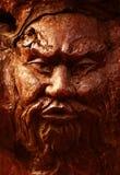 twarz drewniana Obrazy Royalty Free