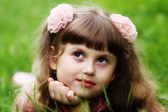 Twarz dziecko dziewczyna Obrazy Royalty Free