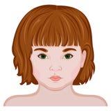 Twarz dziewczyna troszkę Obraz Stock