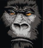 twarz goryl royalty ilustracja