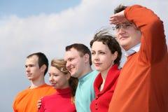 twarz grupy ludzi Obrazy Royalty Free