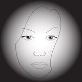 twarz jest kobieta Obrazy Royalty Free