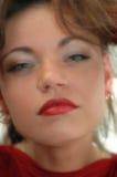 twarz jest miękka ogniska kobieta Zdjęcie Royalty Free