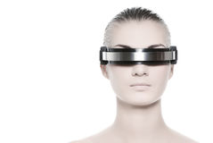 twarz jest piękna kobieta cyber - Obrazy Royalty Free