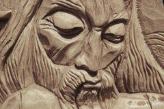 Twarz jezus chrystus korona ciernie & x28; statue& x29; Fotografia Stock