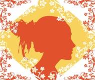 twarz kobiety ilustracji