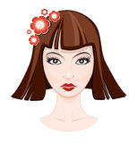 twarz kobiety ilustracji Zdjęcie Stock