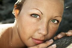 twarz kobiety s young Obraz Royalty Free