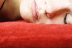 twarz kobiety sypialna Zdjęcie Stock