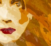 twarz kobiety tło royalty ilustracja