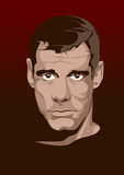 Twarz mężczyzna Komiks stylowa imitacja wektor Obraz Stock