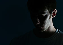 twarz mężczyzna s cień Fotografia Royalty Free