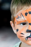 Twarz malująca chłopiec Zdjęcie Stock